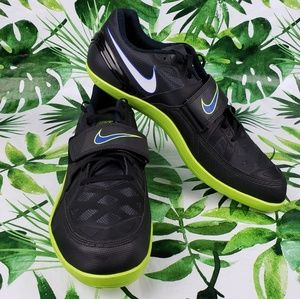 Nike Zoom Rotational black/green athletic shoes 15